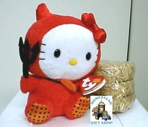 2011 Ty Beanie Babie Halloween Hello Kitty in Red Costume