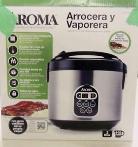 Aroma Arc 150SB 20 Cup Cooked Rice Cooker Food Steamer $94 Read