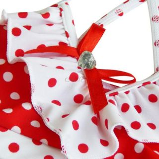 Minnie Mouse Polka Dots Girls Bikini Swimsuit Swimwear Kids Bathing Suit Sz 2 9