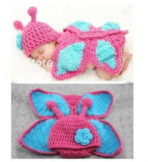 Newborn Baby Girl Boy Crochet Knit Costume Costume Photo Photography Prop