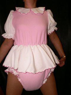 Adult Baby Dress Thick Diaper Spreading Trouser Romper Diaper Dress