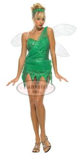 Leg Ave Sexy Green Sequin Fairy Tinkerbell Costume L