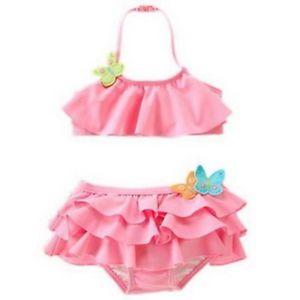 Girls Baby Swimwear Tankini Swimsuit Bikini Bathers 2 8Y Kids Swim Costume New
