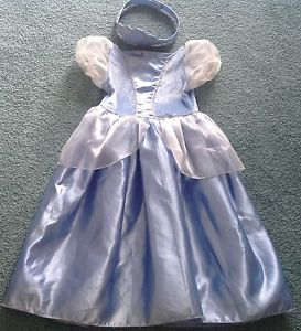 Toddler Disney Cinderella Costume with Crown 36 Months Beautiful