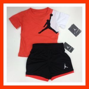 0e45ebe2ee7ea5 Nike Jordan Size 18M Toddler Boys 2pc Short Shirt Set Outfit Clothes ...