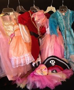 Lot of Toddler Girl Dress Up Clothes Costumes Princess Pirate Size 2T 3T 4T