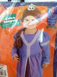 Fiona Princess Shrek Costume Infant Halloween Dress Up Pretend Ogre Dress New