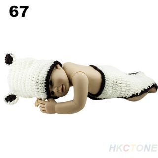New Lovely Kid Toddler Baby Girl Knit Costume Hat Cartoon Beret Flowers Cap B52U