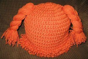 Cabbage Patch Kid Doll Ginger Crochet Hat Handmade Beanie Halloween Costume