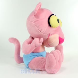 "Pink Panther Baby 11 5"" Large Plush Doll Classic Cartoon Character"