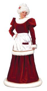 Mrs Santa Claus Velvet Dress Adult Womens Costume Christmas Holiday Long Gown