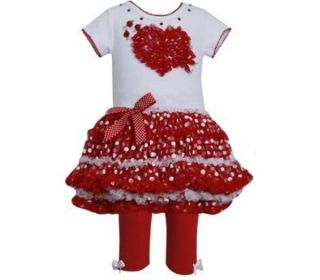 Bonnie Jean Valentines Day Heart Outfit Size 3T Pageant OOC Boutique