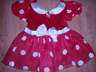 Minnie Mouse Baby Infant Dress 18 24M Halloween Costume