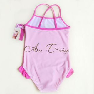 Girls Kids Barbie Princess 2 7Y Swimsuit Swimwear Swim Costume Bathing Suit