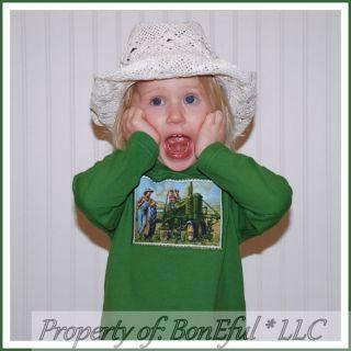 BonEful RTS Boutique 18 24 Baby Boy John Deere Farm Tractor Fabric New Shirt Top