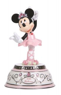 Precious Moments Disney Minnie Mouse Rotating Musical Ballerina Music Box Figure