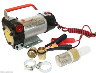 12 Volt 10 5GPM DC Diesel Fuel Transfer Pump Hose Nozzle Flow Meter for Option