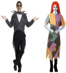 Nightmare Before Xmas Sally 12 14 Jack Skellington Costume 38 40 Couple