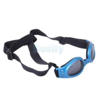 3X Pet Dog Goggles UV Sunglasses Eyeglasses Protection Summer Foldable Blue
