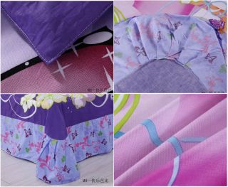 Lovely New Princess Quilt Cover Children Girls Duvet 3pcs Bedding Sets Cartoon