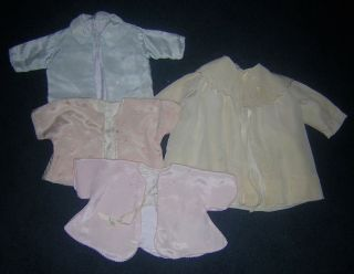 Antique 100 Silk Baby Doll Dress Coat 4 French German Bisque Compo Mama Doll