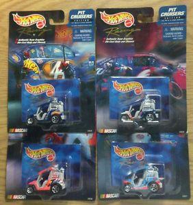 Hot Wheels Racing Pit Cruisers Edition Golf Carts w NASCAR Graphics