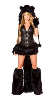 Sexy Furry Fancy Dress Cat Wolf Fox Animal Tail Halloween Cosplay Party Costume