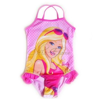 Girl Kid Barbie Princess Swimsuit Swimwear Swimming Swim Costume Age 2 7 Years