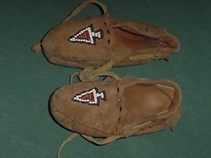 Antique Moccasins Native American Indian Baby Moccasins Circa 1890 S