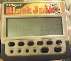 2 Player Handheld Battery Operated Black Jack Casino Game