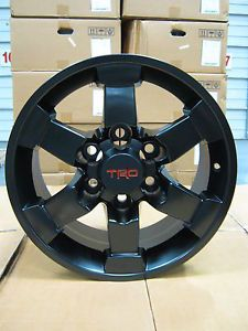 "16"" Toyota FJ Cruiser Black Trail Team TRD Wheels Rims 2007 2013 5 Pcs"