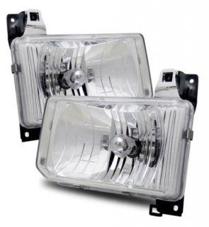 88 89 Nissan Hardbody 87 95 Pathfinder JDM Aftermarket Chrome Crystal Headlights