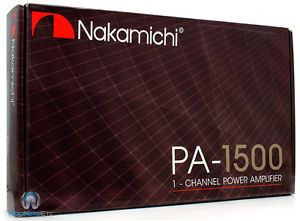 Nakamichi Car Audio PA 1500 Amp 2400 w Max Subwoofers Speakers Power Amplifier