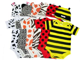 6 24M Baby Boy Girl Twins Animal Safari Party Dress Up Costume Suit with Hat
