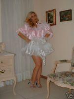 Nel Jen Adult Sissy Pink Baby Slip Dress w Sleeves