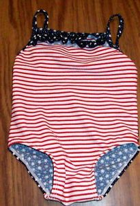 Baby Girls Old Navy Flag Bathing Swim Suit Stars Stripe