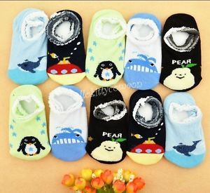 2 10 Pairs 1 Lot Wholesale Boys Kids Baby Cotton Knit Cartoon Anti Skid Sock