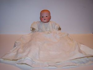 """Armand Marseille 351 Bisque Brown Eye Dream Baby 12"""" Doll Antique with Clothes"""