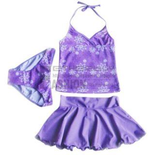 Girls Swimsuit Swimwear Bathing Suit Tankini Floral 8 9 Years Swimming Costume