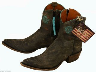 """102 New Lucchese Diva DV3001 33 Gray Mad Dog 7"""" Baby Diva Ankle Boot $400 00"""
