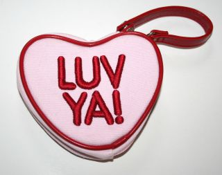 Baby Gap Kids Girls Luv Ya Valentines Day Pink Heart Purse Love