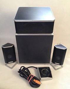 Altec Lansing FX4021 Computer Speakers 2 Speakers Subwoofer Nice