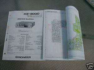 Pioneer Car Tape Player Service Manual Ke 3000 Lot 216