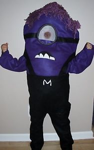 Evil Minion Costume Despicable Me Kids Child Size Homemade 4T Up to 10 New