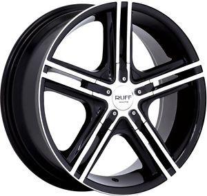 "15"" inch 4x100 4x108 Black Machined Wheels Rims 4 Lug Honda Acura Nissan Toyota"