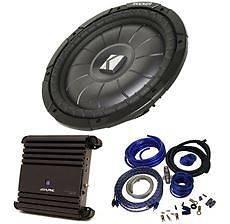 "Kicker 10CVT12 CVT 12"" 800 Watt Car Audio Subwoofer Alpine Amplifier Amp Kit"