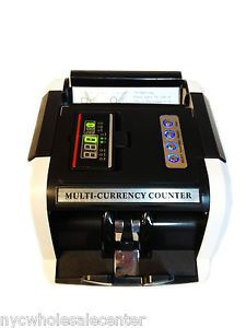 Bill Money Currency Counter w Display Cash Machine UV MG Counterfeit Detector