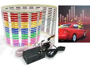 Sound Music Activated Sensor Light Equalizer Multi Color LED 12V Car Sticker