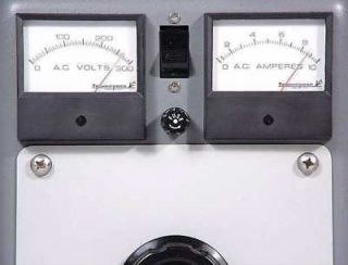 USA Made 240 Volt Dual Metered Variac 4 Audio Research 600MKIII Stereo Tube Amp