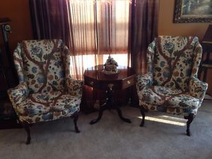 Pair of Baker Furniture Mahogany Wing Chairs Excellent Condition